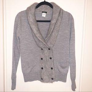 J. Crew Grey 100% Merino Wool Sweater, Small